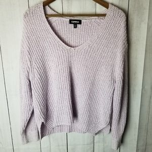 Express Oversized 90's Style Cropped Sweater
